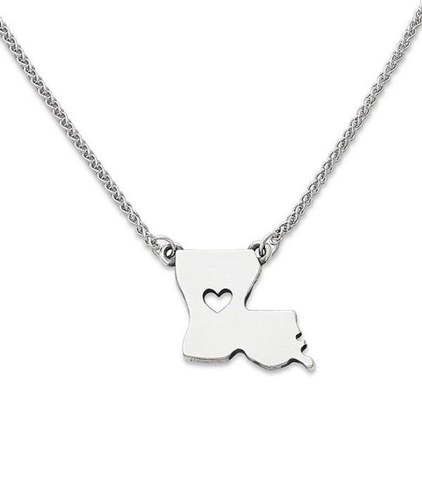 ジェームズ エイヴリー レディース ネックレス・チョーカー・ペンダントトップ アクセサリー I Love Louisiana Necklace Sterling Silver