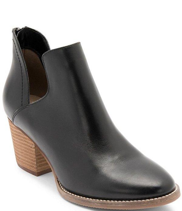ブロンド レディース ブーツ・レインブーツ シューズ Neda Waterproof Leather Booties Black Leather