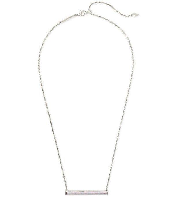 ケンドラスコット レディース ネックレス・チョーカー・ペンダントトップ アクセサリー Kelsey Silver Pendant Necklace White OpalWIH2YED9