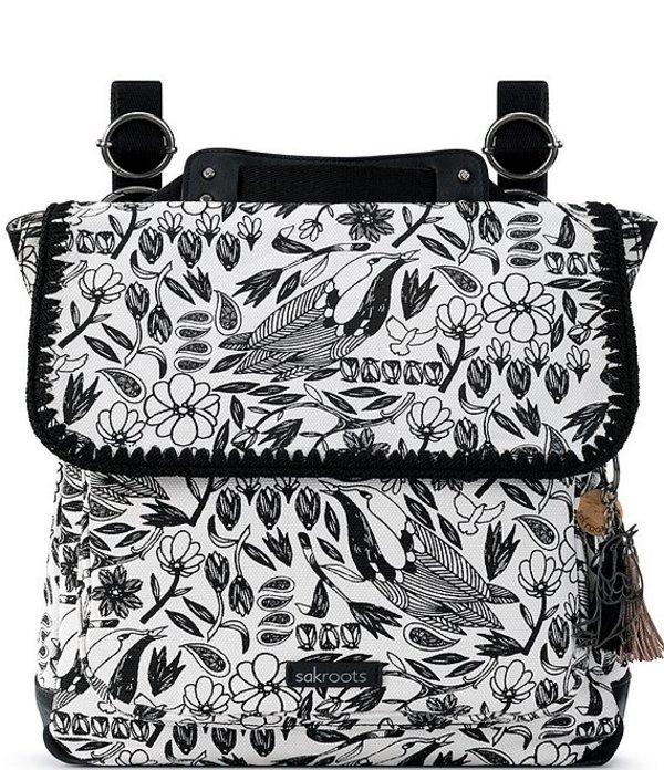 ザサック レディース バックパック・リュックサック バッグ Olympic Convertible Backpack Black Piece Birds