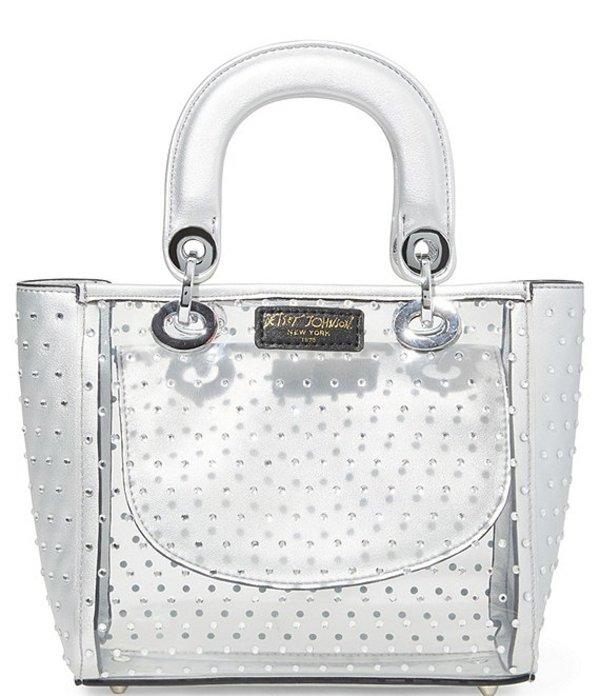 ベッツィジョンソン レディース ハンドバッグ バッグ Sparkle Top Handle Satchel Bag Silver