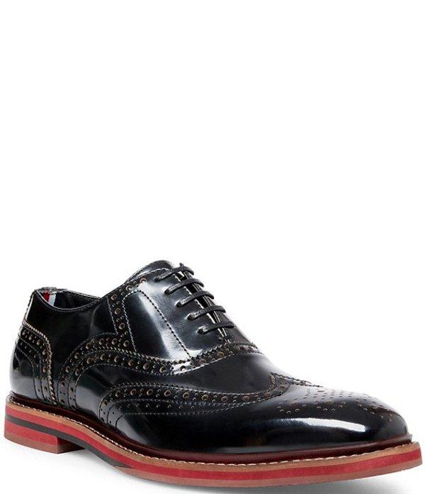 スティーブ マデン メンズ ドレスシューズ シューズ Men's Leather Cingular Wingtip Oxfords Black
