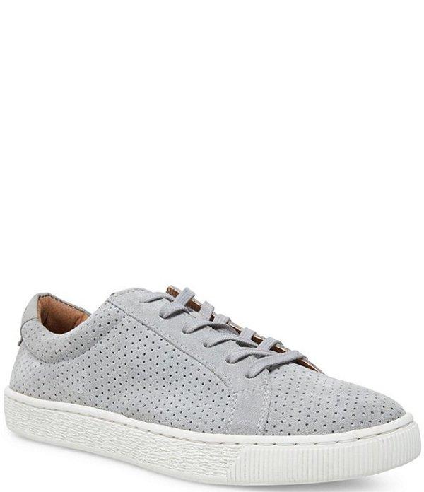 スティーブ マデン メンズ スニーカー シューズ Men's Perforated Suede Stoked Sneakers Grey Suede