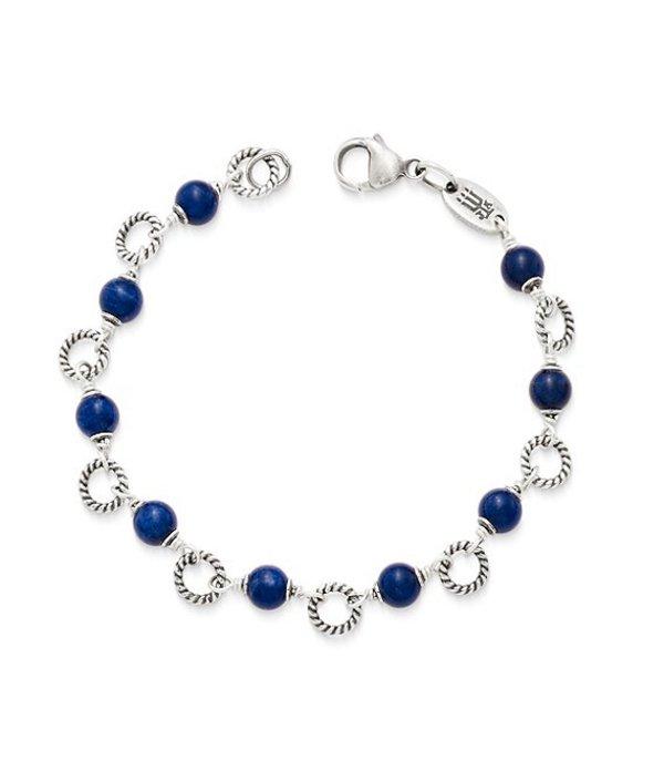 ジェームズ エイヴリー レディース ブレスレット・バングル・アンクレット アクセサリー Twisted Wire Link Bracelet with Sodalite Beads Sterling Silver/Blue