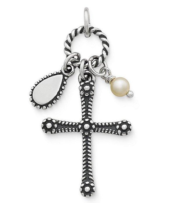 ジェームズ エイヴリー レディース ネックレス・チョーカー・ペンダントトップ アクセサリー Enduring Faith Cross Pendant with Cultured Pearl Sterling Silver/Pearl
