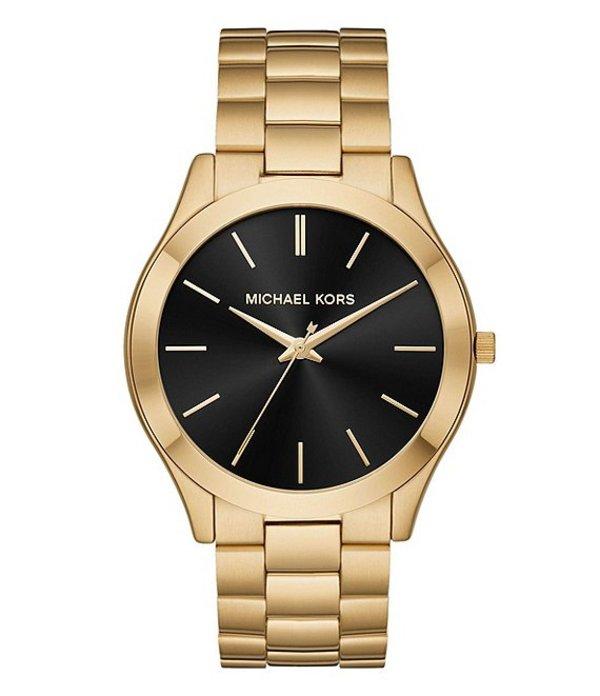 マイケルコース メンズ 腕時計 アクセサリー Men's Slim Runway Gold-Tone Watch Gold