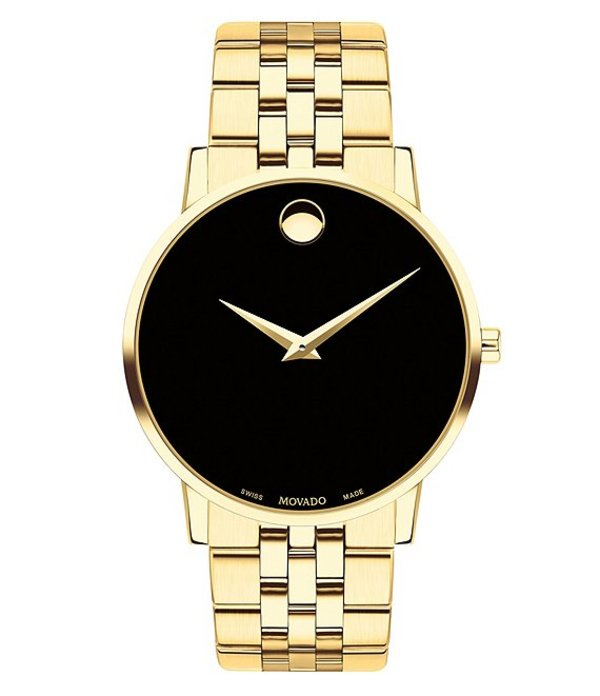 モバド メンズ 腕時計 アクセサリー Museum Classic Gold-Toned Link Bracelet Watch Gold-Tone