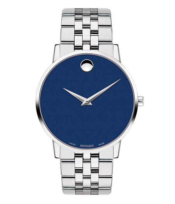 モバド メンズ 腕時計 アクセサリー Museum Classic Silver-Toned Link Bracelet Watch Silver-Tone