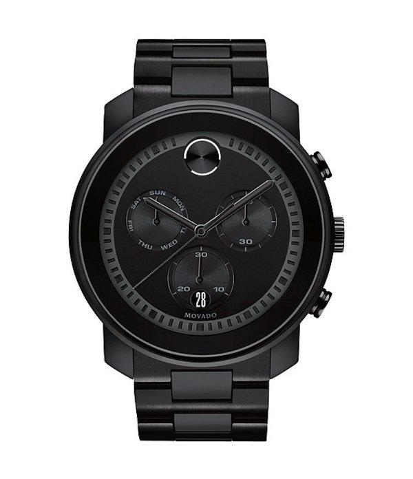 モバド メンズ 腕時計 アクセサリー Bold Men's Metals Black Swiss Quartz Chronograph Watch Black