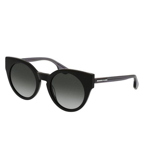 アレキサンダー・マックイーン レディース サングラス・アイウェア アクセサリー McQ by Alexander McQueen Women's Cat Eye Sunglasses Black Grey