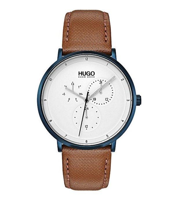 ヒューゴボス メンズ 腕時計 アクセサリー HUGO HUGO BOSS #Guide Ultra Slim Leather Strap Multifunctional Watch Brown