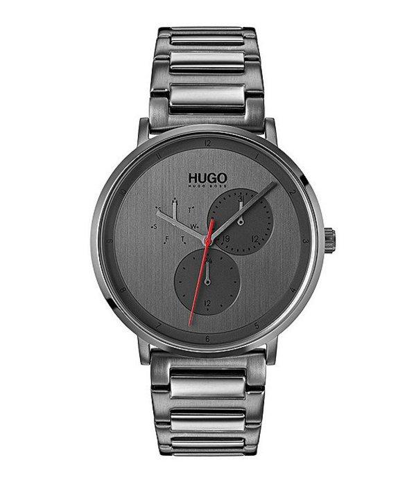 ヒューゴボス メンズ 腕時計 アクセサリー HUGO HUGO BOSS #Guide Ultra Slim Multifunctional Gunmetal Watch Grey