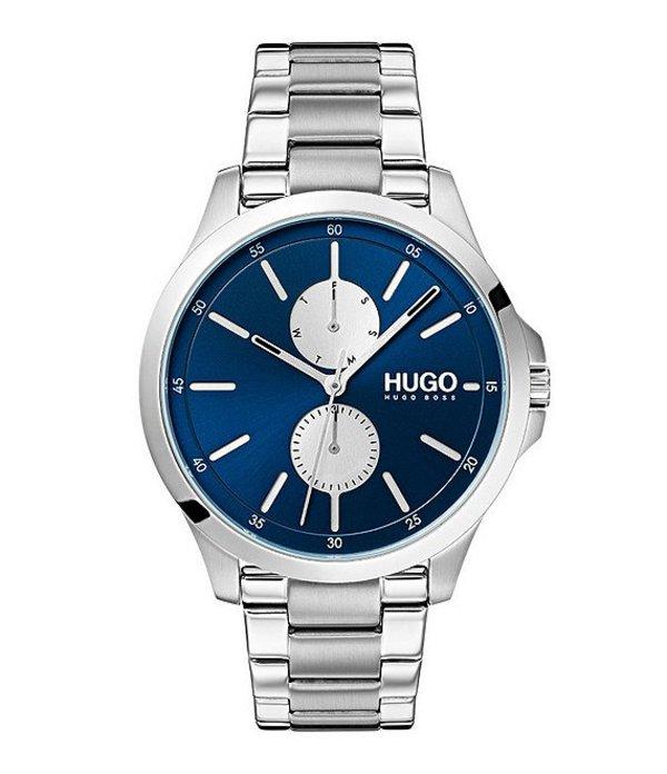 ヒューゴボス メンズ 腕時計 アクセサリー HUGO HUGO BOSS #Jump Multifunctional Stainless Steel Watch Blue