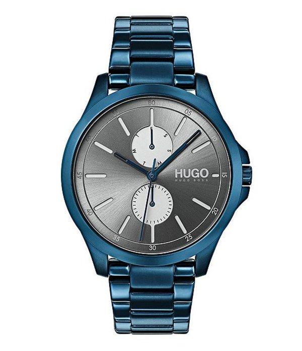 ヒューゴボス メンズ 腕時計 アクセサリー HUGO BOSS #Jump Multifunctional Blue Watch Blue