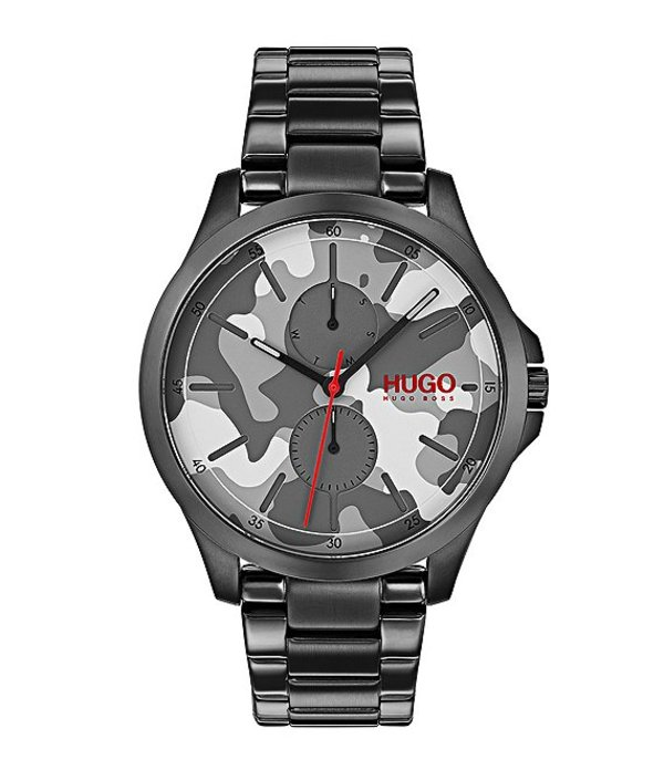 ヒューゴボス メンズ 腕時計 アクセサリー HUGO HUGO BOSS #Jump Camo Print Dial Multifunction Watch Camo
