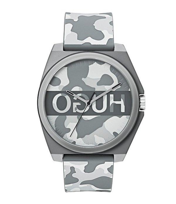 ヒューゴボス メンズ 腕時計 アクセサリー HUGO HUGO BOSS #Play Camo Rubber Strap Logo Dial Watch Grey