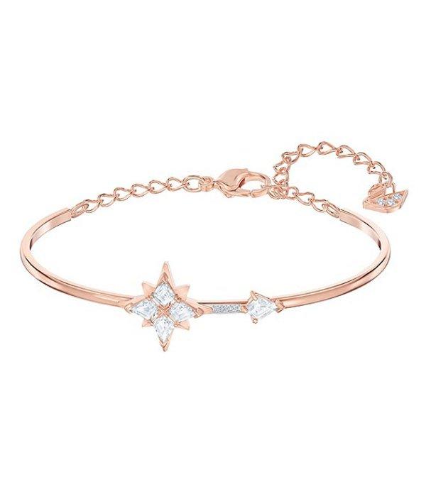 スワロフスキー レディース ブレスレット・バングル・アンクレット アクセサリー Symbolic Collection Star Bangle Bracelet Rose Gold