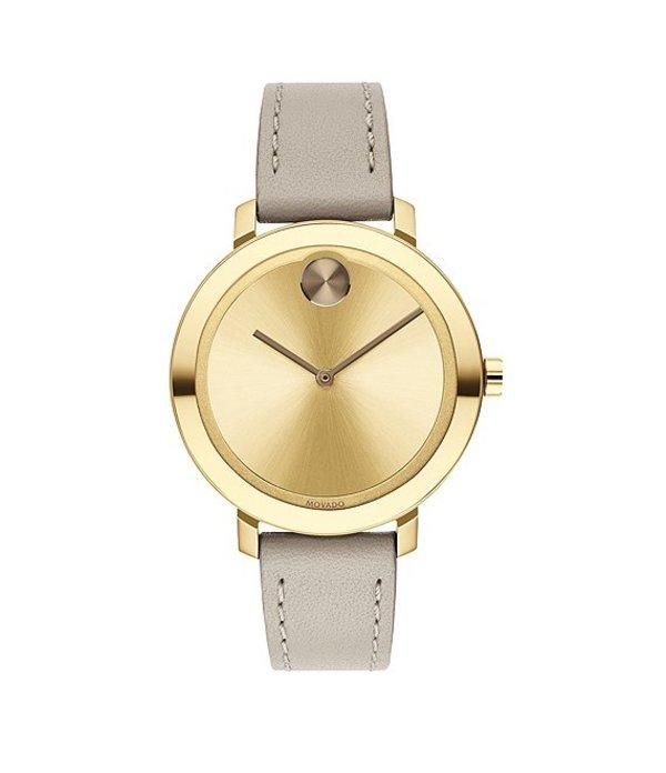モバド レディース 腕時計 アクセサリー Bold Leather Swiss Quartz Evolution Watch Beige