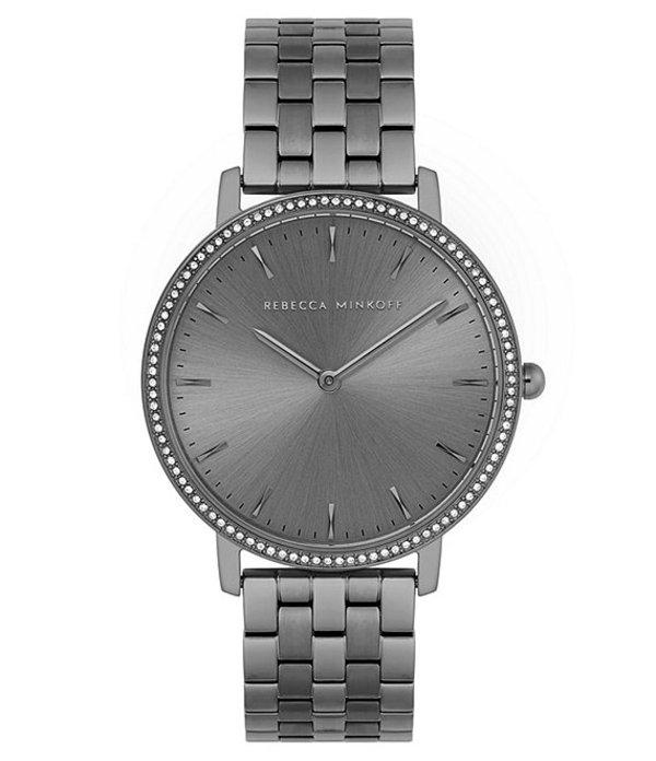 レベッカミンコフ レディース ブレスレット・バングル・アンクレット アクセサリー Major Grey IP Stainless Steel Bracelet Watch Grey