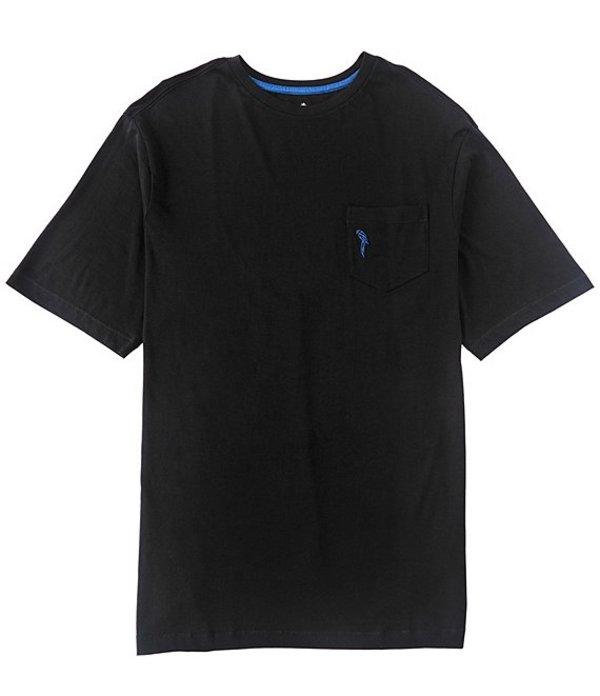 カリビアン メンズ シャツ トップス Big & Tall Supima Cotton Short-Sleeve Tee Black