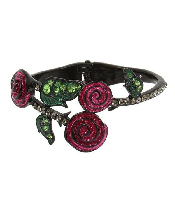 ベッツィジョンソン レディース ブレスレット・バングル・アンクレット アクセサリー Rose Hinged Bangle Bracelet Pink