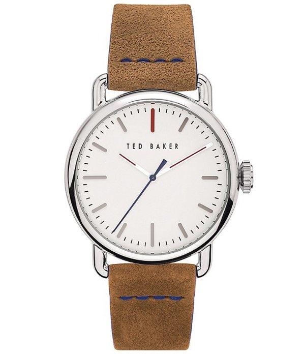 テッドベーカー メンズ 腕時計 アクセサリー Tomcoll Tan Strap Three-Hand White Dial Watch Tan