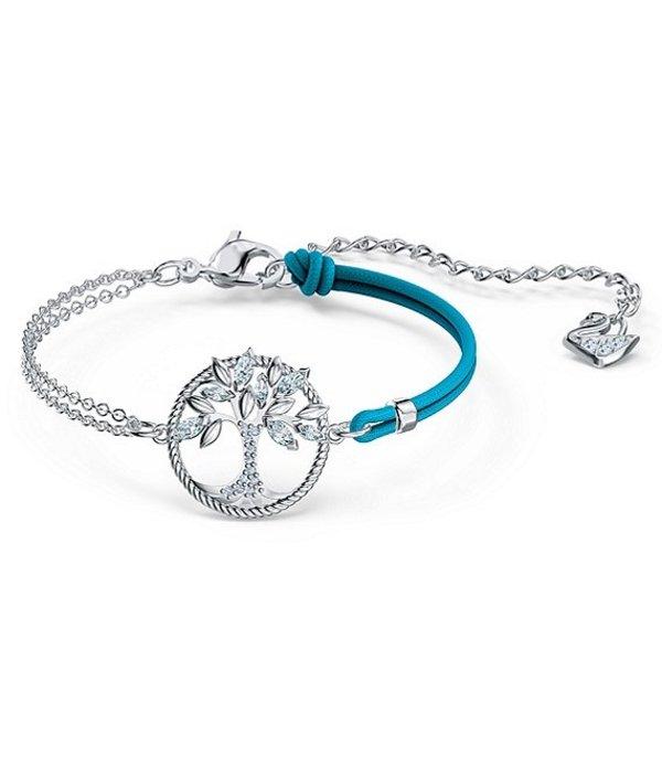 スワロフスキー レディース ブレスレット・バングル・アンクレット アクセサリー Symbolic Tree of Life Crystal Bracelet Silver