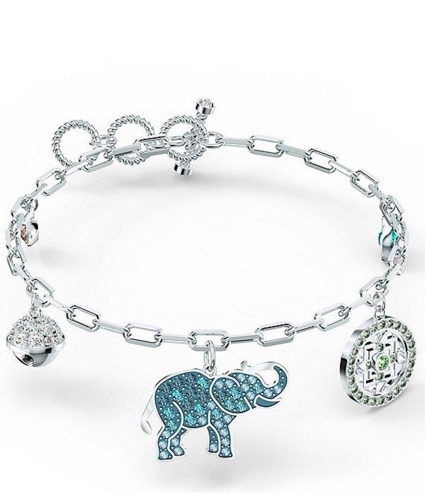 スワロフスキー レディース ブレスレット・バングル・アンクレット アクセサリー Symbolic Elephant Bracelet Silver