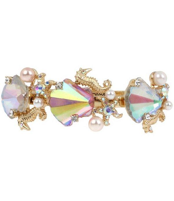 ベッツィジョンソン レディース ブレスレット・バングル・アンクレット アクセサリー Stone Sea Shell Hinged Bangle Bracelet Pink