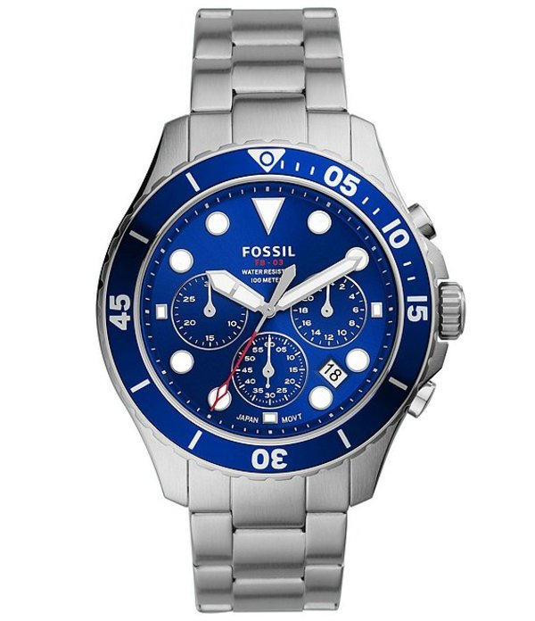 フォッシル メンズ 腕時計 アクセサリー Men's FB-03 Chronograph Stainless Steel Watch Silver