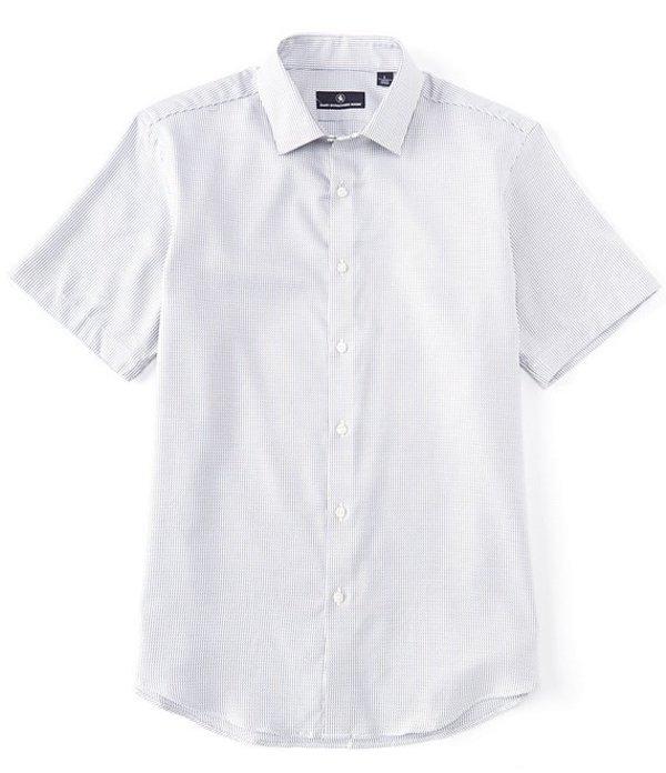 ハート シャフナー マルクス メンズ シャツ トップス Short Sleeve Shard Stripe Sportshirt Blue