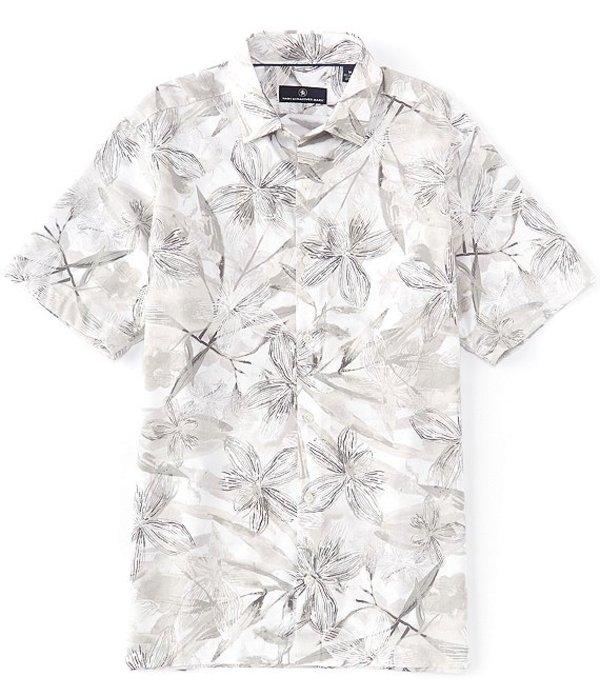 ハート シャフナー マルクス メンズ シャツ トップス Short Sleeve Large Floral Camp Shirt White
