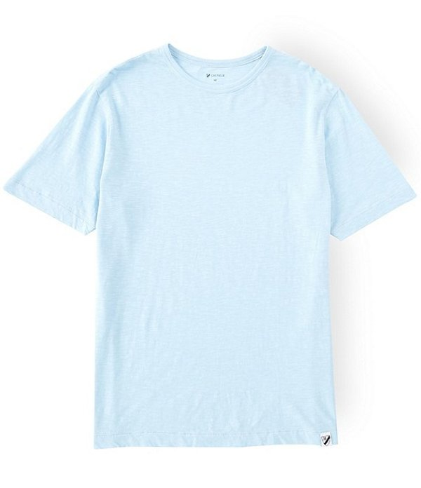 ダニエル クレミュ メンズ シャツ トップス Garment-Dyed Slub Crew Short-Sleeve Tee Cerulean