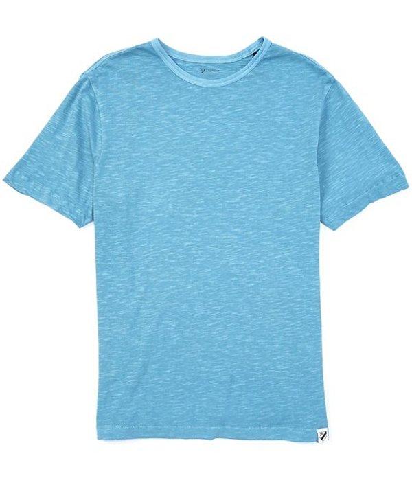 ダニエル クレミュ メンズ シャツ トップス Garment-Dyed Slub Crew Short-Sleeve Tee Dull Blue