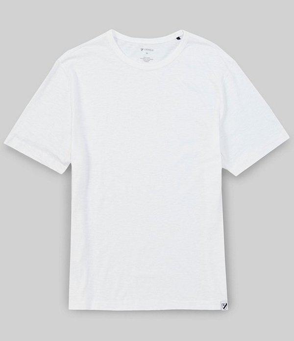 ダニエル クレミュ メンズ シャツ トップス Garment-Dyed Slub Crew Short-Sleeve Tee Whiteness