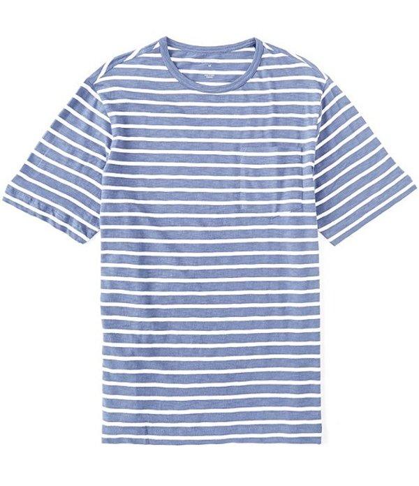 ダニエル クレミュ メンズ シャツ トップス Slub Stripe Crew Short-Sleeve Tee Vintage Indigo