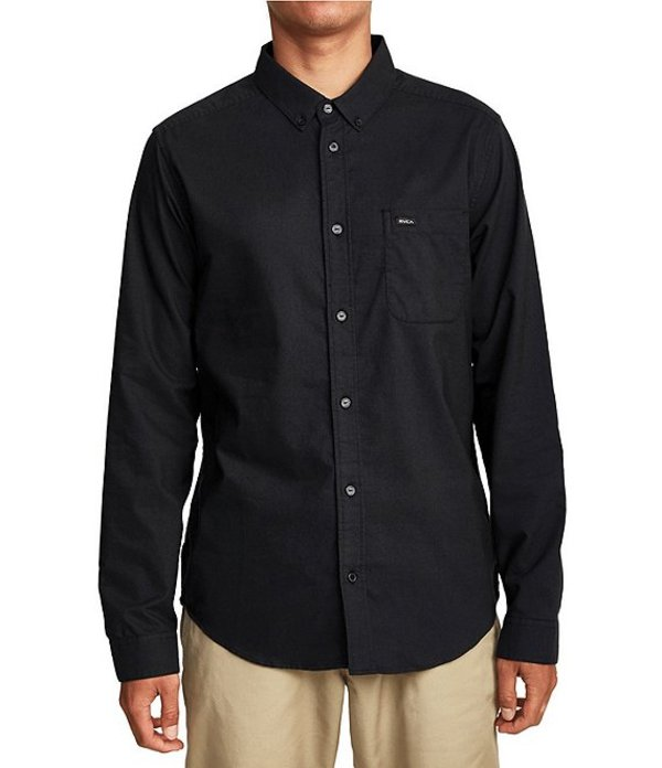 ルーカ メンズ シャツ トップス That'll Do Stretch Long-Sleeve Oxford Shirt Black