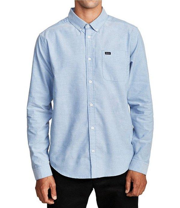 ルーカ メンズ シャツ トップス That'll Do Stretch Long-Sleeve Oxford Shirt Oxford Blue