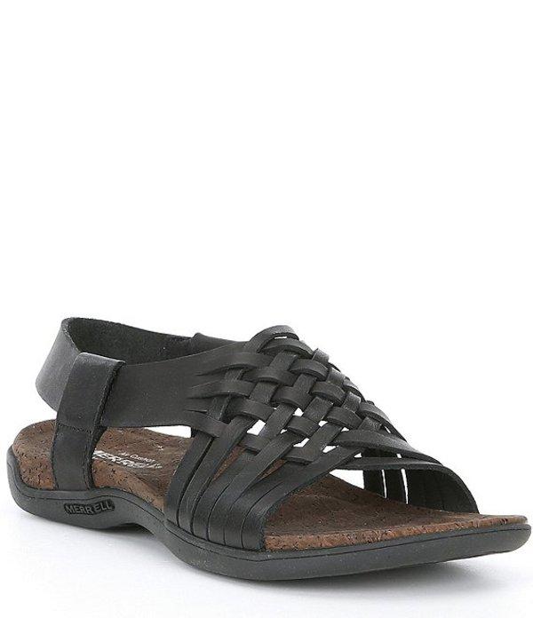 メレル レディース サンダル シューズ District Mahana Backstrap Leather Sandals Black
