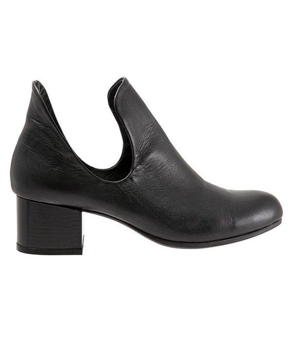 ブエノ レディース ブーツ・レインブーツ シューズ Mick Leather Block Heel Booties Black