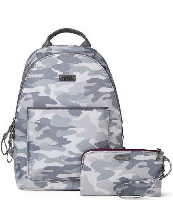 バッガリーニ レディース バックパック・リュックサック バッグ Central Park Camouflage Backpack Grey Camo Print