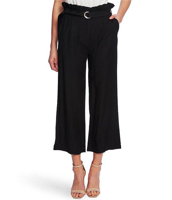 セセ レディース カジュアルパンツ ボトムス Paperbag Waist D-Ring Belted Crop Pants Rich Black