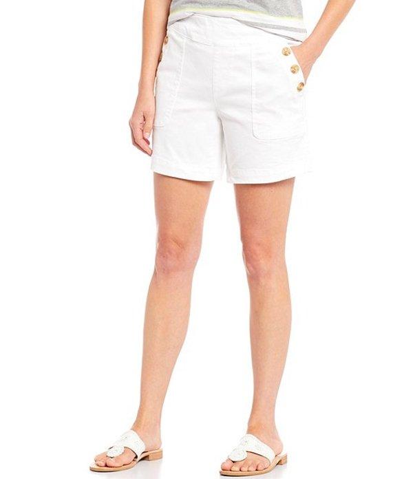 ウエストバウンド レディース ハーフパンツ・ショーツ ボトムス High Rise Three Button Pocket Short White