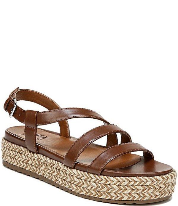 ナチュライザー レディース サンダル シューズ Peridot Strappy Platform Sandals Lodge Brown