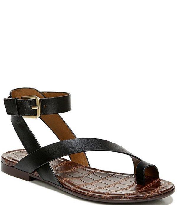 ナチュライザー レディース サンダル シューズ Sally Leather Banded Toe Ring Sandals Black
