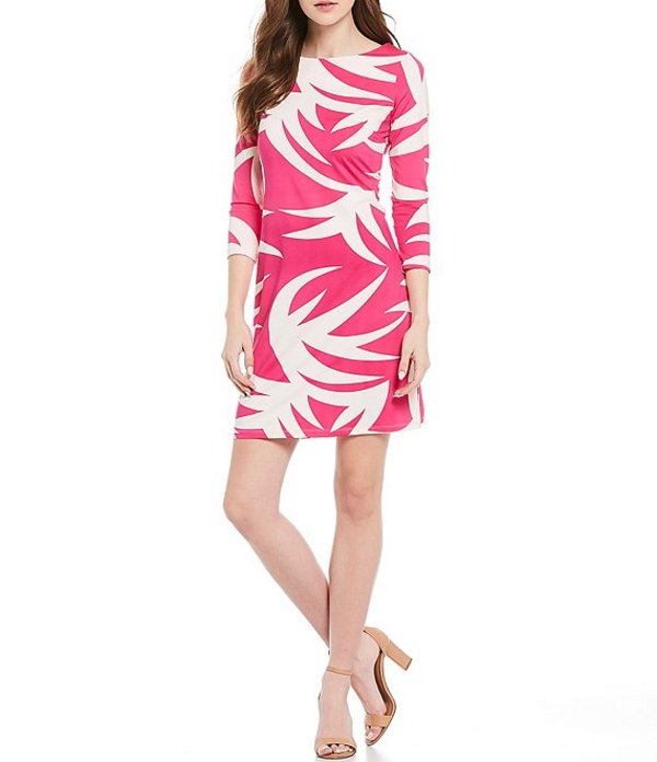ジュリーブラウン レディース ワンピース トップス Goldie 3/4 Sleeve Printed Sheath Dress Pink Pineapple