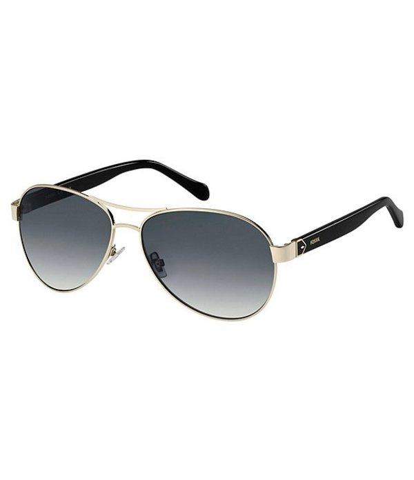 フォッシル レディース サングラス・アイウェア アクセサリー FOS3079S Aviator Sunglasses Light Gold