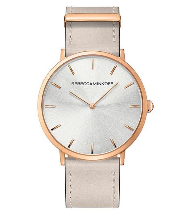 レベッカミンコフ レディース 腕時計 アクセサリー 40 mm Putty Strap Watch Rose Gold