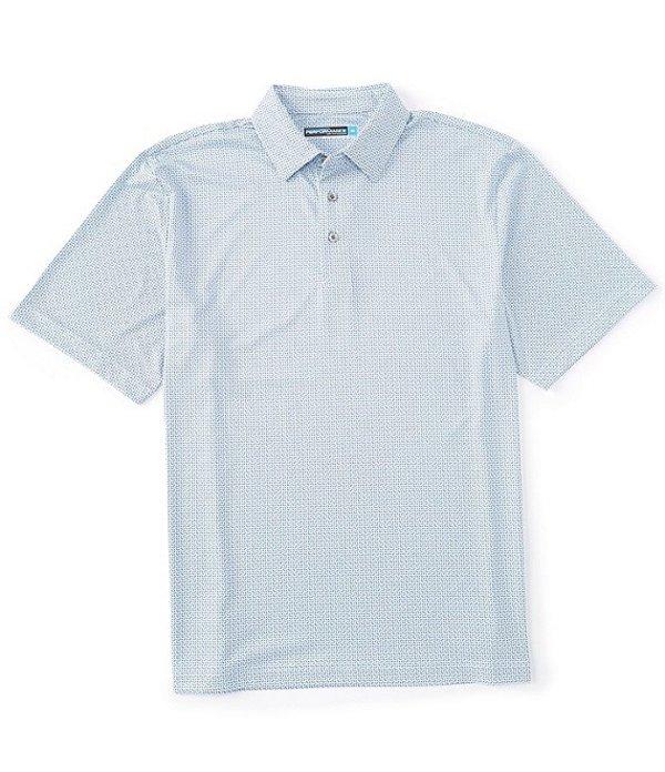 ラウンドトゥリーアンドヨーク メンズ シャツ トップス Performance Short-Sleeve Geo Printed Polo Bright White