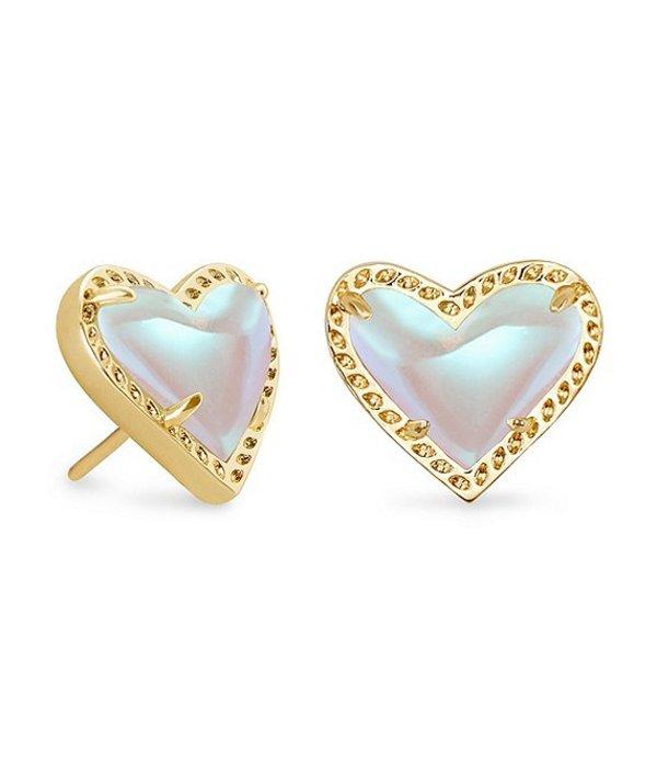 送料無料 デポー サイズ交換無料 ケンドラスコット レディース アクセサリー ピアス 2020A W新作送料無料 イヤリング Ari Glass Stud Earrings Dichroic Heart Gold